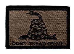 Tactical Don't Tread on Me Coyote/Black Patch