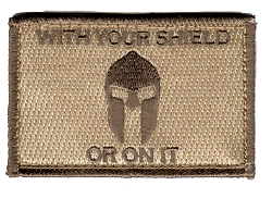 Tactical With Your Shield Subdued Patch