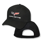 Corvette Logo On Big Black Adjustable Hat