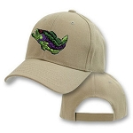 Big Bass Fish Logo On Khaki Adjustable Cap