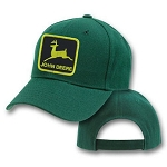 John Deere Logo Black On Green Adjustable