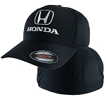Honda® White Auto H 4XL Black FlexFit® Cap
