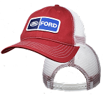 Ford on Red/White Low Profile Mesh