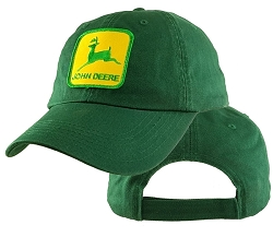 Big John Deere on Green Low Profile Cap