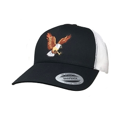 Big Size Eagle on Black/White Yupoong Mesh cap