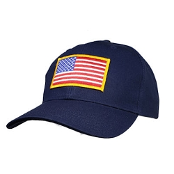 Big Size Navy Adjustable Cap/US Flag