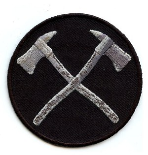 Crossed Firefighter Axes Emblem