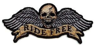 Ride Free Winged Skull Patch