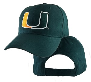 University Of  Miami Logo On Big Head Cap