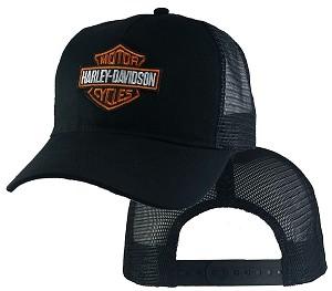 Harley Davidson on Black Mesh c83b353b45a