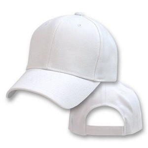 Big Size White Adjustable Cap