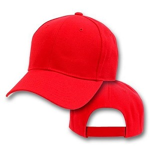 Big Size Red Adjustable Cap
