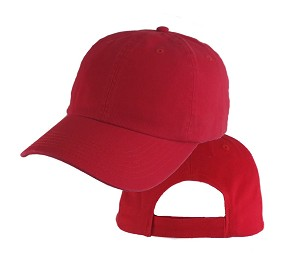 Big Size Red Low Profile Cap