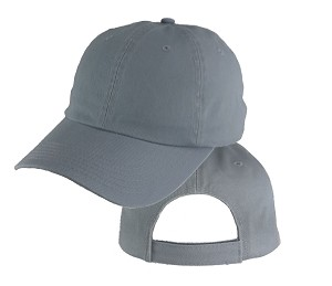Big Size Gray Low Profile Cap