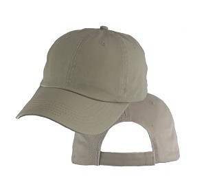 Big Size Khaki Low Profile Cap