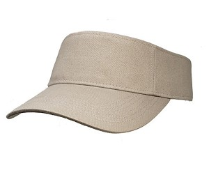Big Size Khaki Adjustable Visor