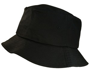Big Size 3XL/4XL Black FlexFit® Bucket Hat
