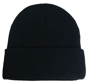 Big Supersized Black Knit Cap