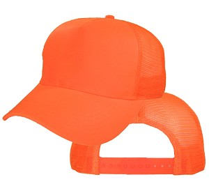 Big Safety Orange Mesh Cap