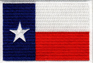 Texas State Flag Embroidered Emblem