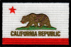 California State Flag Embroidered Patch