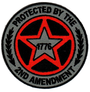 Protected by 2nd Amendment 1776 Emblem
