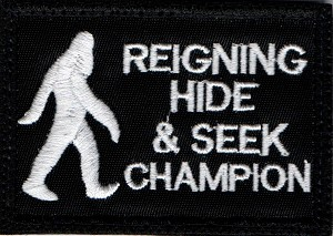 Tactical Hide/Seek Champion Black/White Patch