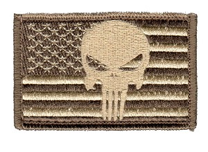 Tactical Punisher Skull Flag Subdued Patch