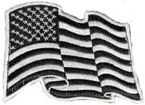 Tactical American Wavy Black/White Flag Patch