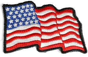 Tactical American Wavy Flag Patch