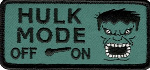 Tactical Hulk Mode hook & loop Patch