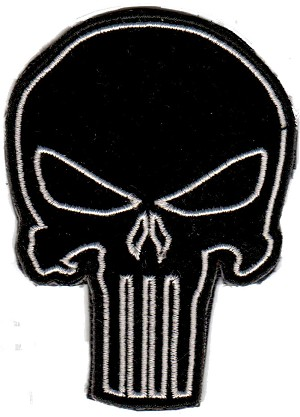 Tactical Punisher Skull Black Patch