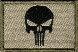 Tactical hook & loop Punisher Skull On Olive Patch