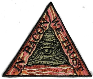 Tactical hook & loop In Bacon We Trust Illuminati Patch