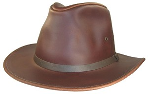 Big Rust Safari Leather Hat 2Xl
