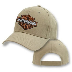 Harley Logo On Big Khaki Adjustable