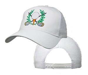 Big Size Victorious Golf on White Mesh Cap