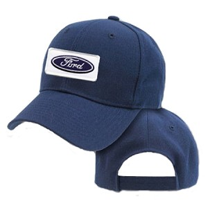 Big Ford Logo On Navy Adjustable Cap