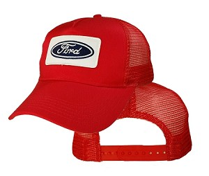Big Size Ford Logo on Red Mesh Cap