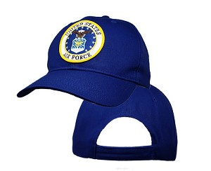 Big US Air Force Logo On Royal Adjustable Cap